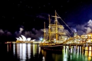 Spectacular 2-Hour Vivid Festival Cruise Onboard a Historic Tall Ship for Just $59! Worth $134. Incl. Canapes, Open Bar, Music & Stunning Views