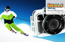 Capture All the Action with a HD Sports Camera for Just $99! Valued at $299. Incl. 4GB SD Card, Helmet & Handlebar Mount & Waterproof Case!