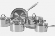 5-Piece Stanley Rogers Stainless Steel Cookware Set for Just $119! Delivered. Includes 3 Saucepans, Casserole Pot & Non-Stick Coated Skillet