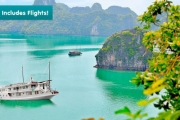 VIETNAM W/ FLIGHTS Discover Bustling Hanoi & Halong Bay's Emerald Waters for 6-Nights for Just $999! Worth $2291. Fly from Bri, Ade or Per!