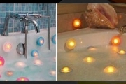 Make Bath Time Fun with 6 Floating LED Lamps for Just $25! Valued at $59. Features Removable Suction Caps for Tiles, Bath or Shower