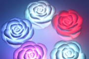 Add Ambience to Your Bathroom with a Set of 6 Multicoloured LED Rose Lamps for Just $19! Delivered. No Fire Hazards, Safer than Real Candles